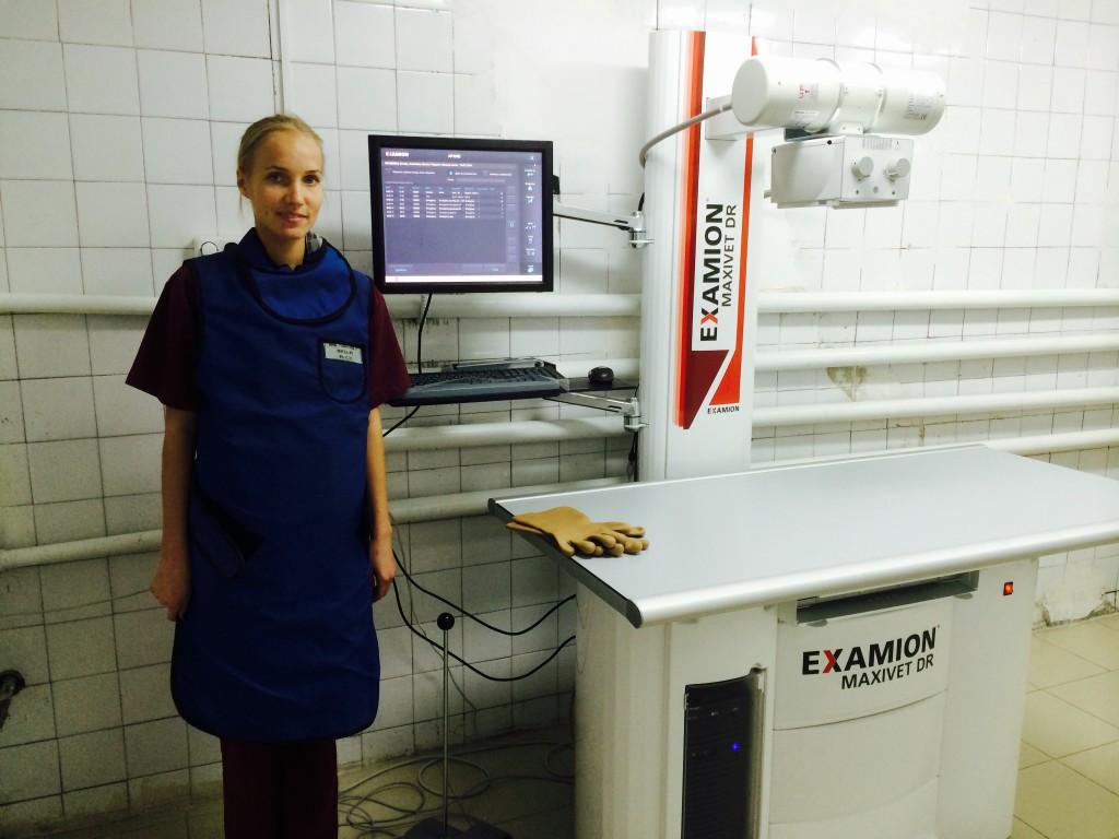 цифровой рентгеновский аппарат EXAMION  MAXIVET   DR