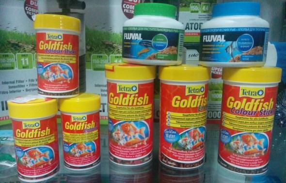 Кормы для золотых рыбок
