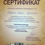 Азарова - дипломы